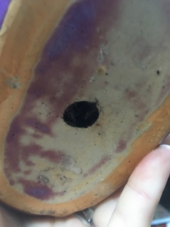 Hole I drilled.